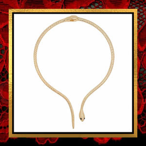 Jewelry - Golden Snake Hinged Necklace   #771